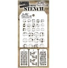 Tim Holtz Mini Layered Stencil Set 3/Pkg - Set 29