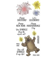 Art Gone Wild Nicole Tamarin Clear Stamp Set - Sparkler Bear
