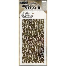 Tim Holtz Layered Stencil 4.125X8.5 - Feather