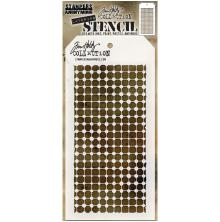 Tim Holtz Layered Stencil 4.125X8.5 - Grid Dot