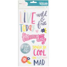 Dear Lizzy Lovely Day Chipboard Stickers 6X12 2/Pkg - Lovely Phrases