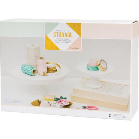 Crate Paper Desktop Storage Ceramic Stands 2/Pkg