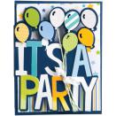 Sizzix Framelits Drop-Ins Dies 6/Pkg - It's A Party Card