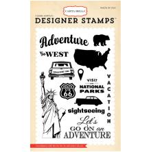 Carta Bella Stamp 4X6 - Are We There Yet? Go On An Adventure