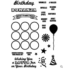 Inky Antics Clear Stamp Set - Birthday Bonanza