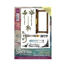 Sheena Douglass Perfect Partner Alchemy A6 Stamp Set - Something's Brewing
