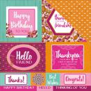 Kaisercraft Bombay Sunset Double-Sided Cardstock 12X12 - Party