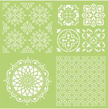 Kaisercraft Designer Template 12X12 - Intricate Tiles