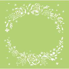 Kaisercraft Designer Template 6X6 - Floral Wreath