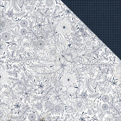 Kaisercraft Indigo Skies Double-Sided Cardstock 12X12 - Midnight