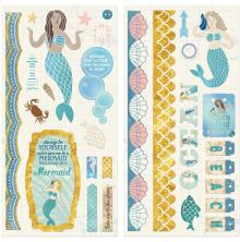 BoBunny Chipboard Accents 6X12 2/Pkg - Down By The Sea