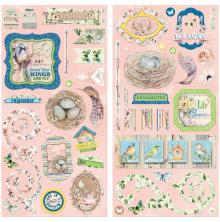 BoBunny Chipboard Accents 6X12 2/Pkg - Serendipity