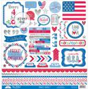 Doodlebug Yankee Doodle Cardstock Stickers 12X12 - This & That