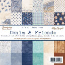 Maja Design Paper Stack 6X6 - Denim & Friends