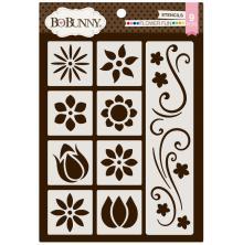 BoBunny Thick Stencils 9.5X6.5 - Flower Fun UTGÅENDE