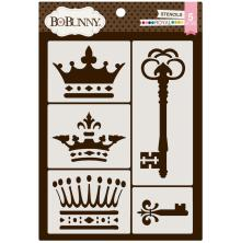 BoBunny Thick Stencils 9.5X6.5 - Royal  UTGÅENDE