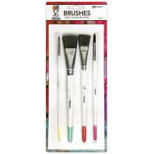 Dina Wakley Media Brushes 4/Pkg