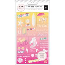 Pink Paislee World Jumble Stickers Acetate - Summer Lights Holographic Foil