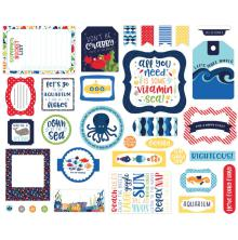 Echo Park Ephemera Cardstock Die-Cuts - Under The Sea Icons