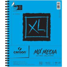 Canson XL Multi-Media Spiral Paper Pad 9X12 - 60 Sheets