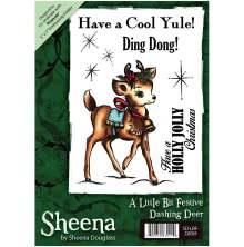 Sheena Douglass A6 Unmounted Rubber Stamp - Dashing Deer
