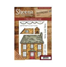 Sheena Douglass Mockingbird Hill A5 Rubber Stamp - 1 Mockingbird Lane