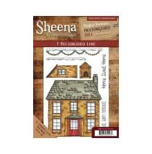 Sheena Douglass Mockingbird Hill A5 Rubber Stamp - 1 Mockingbird Lane