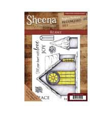 Sheena Douglass Mockingbird Hill A5 Rubber Stamp - Rejoice