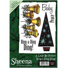 Sheena Douglass A6 Unmounted Rubber Stamp - Ring-a-Ding-Ding