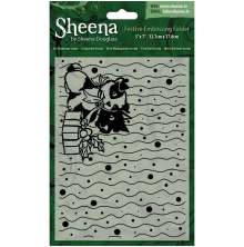 Sheena Douglass Christmas 5x7 Embossing Folder - It´s Christmas Scotty