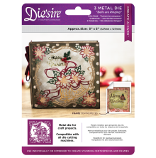 Crafters Companion Diesire 5x5 Create a Card - Bells are Ringing