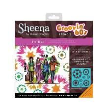 Sheena Douglass Groovin 60s 8x8 Stencil - Tie Dye