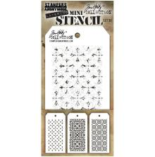 Tim Holtz Mini Layered Stencil Set 3/Pkg - Set 30