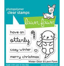 Lawn Fawn Clear Stamps 3X2 - Winter Otter