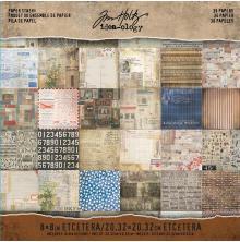 Tim Holtz Idea-0logy Paper Pad 8X8 36/Pkg - Etcetera