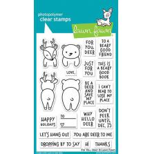 Lawn Fawn Clear Stamps 4X6 - For You, Deer