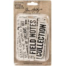Tim Holtz Idea-0logy Chipboard Quote Chips 58/Pkg - Word & Phrases