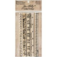Tim Holtz Idea-0logy Wooden Ruler Pieces 5/Pkg