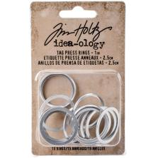 Tim Holtz Idea-0logy Tag Press Rings 2.5cm 15/Pkg