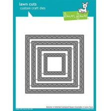 Lawn Fawn Custom Craft Die - Outside In Stitched Scalloped Square
