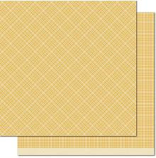 Lawn Fawn Perfectly Plaid Chill Cardstock 12X12 - Mellow Yellow
