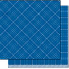 Lawn Fawn Perfectly Plaid Chill Cardstock 12X12 - Take Ten