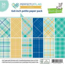 Lawn Fawn Petite Paper Pack 6X6 36/Sheets - Perfectly Plaid Chill