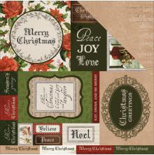 Kaisercraft Letters To Santa Double-Sided Cardstock 12X12 - Be Merry UTGÅENDE