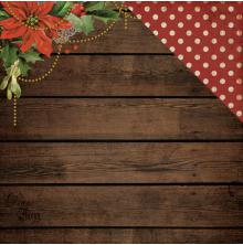 Kaisercraft Letters To Santa Double-Sided Cardstock 12X12 - Poinsettia Garland