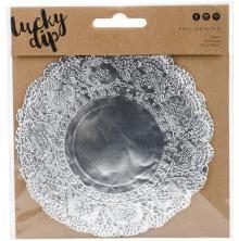 Kaisercraft Lucky Dip Foil Doilies Round 10/Pkg - Silver