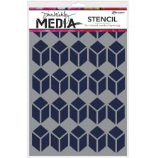 Dina Wakley Media Stencils 9X6 - Stacked Squares