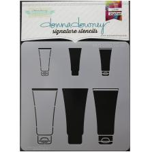 Donna Downey Signature Stencils 8.5X8.5 - Paint Tubes