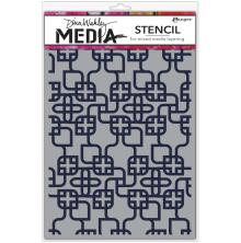Dina Wakley Media Stencils 9X6 - Linking Pattern