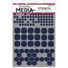 Dina Wakley Media Stencils 9X6 - Shape Mashup